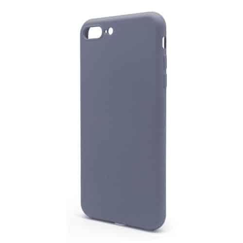 Θήκη Liquid Silicon inos Apple iPhone 7 Plus/ iPhone 8 Plus L-Cover Γκρι-Μπλε