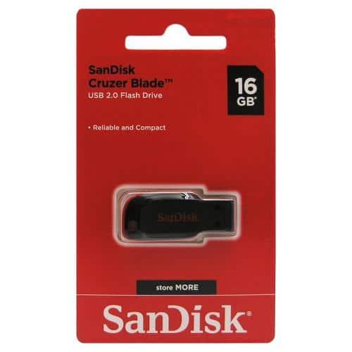 USB Flash Disk SanDisk Cruzer Blade SDCZ50 16GB Μαύρο