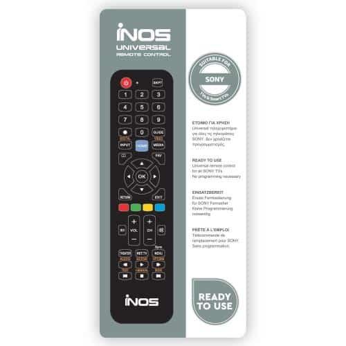 Τηλεχειριστήριο inos για Sony TVs & Smart TVs (Ready To Use)