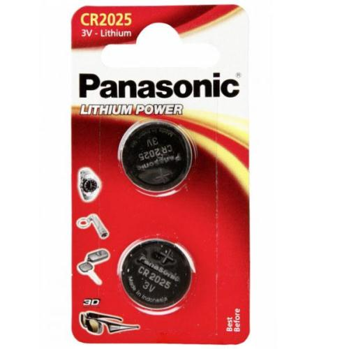 Lithium Button Cells Panasonic CR2025 (2 τεμ)