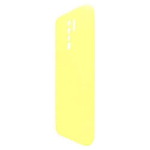 Θήκη Liquid Silicon inos Xiaomi Redmi 9 L-Cover Κίτρινο