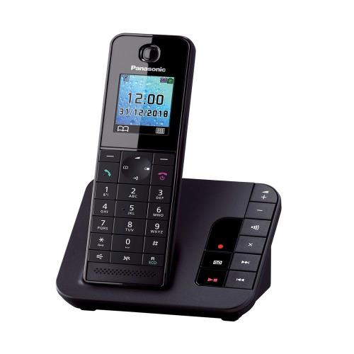 Dect Panasonic KX-TGH220GRB with Automatic Answering Machine Black