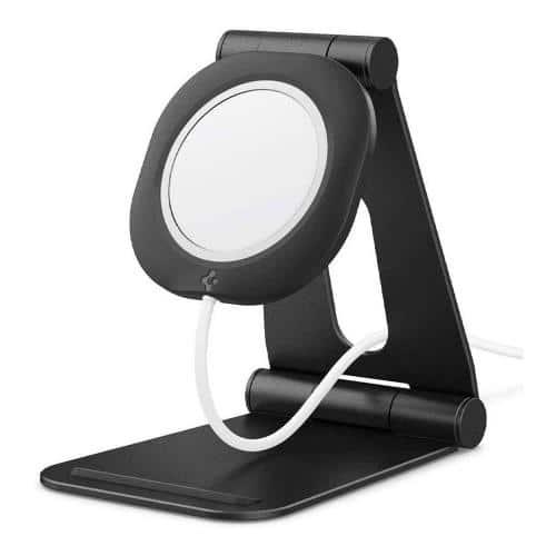 Desktop Foldable Holder Spigen Magfit S for Apple iPhone 12 Series MagSafe Charger Black (1 pc)