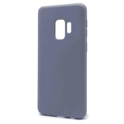 Θήκη Liquid Silicon inos Samsung G960F Galaxy S9 L-Cover Γκρι-Μπλε