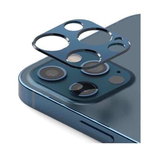 Tempered Glass Full Face Ringke Styling για Τζαμάκι Κάμερας Apple iPhone 12 Pro Max Μπλε (1 τεμ)
