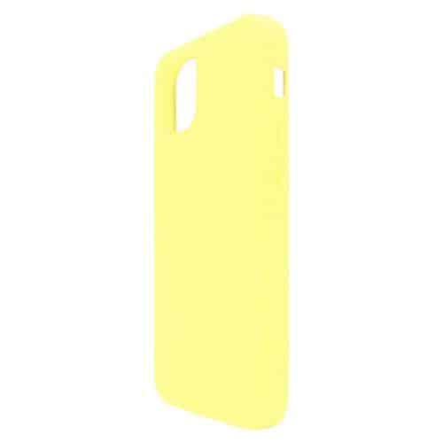 Liquid Silicon inos Apple iPhone 12 mini L-Cover Yellow