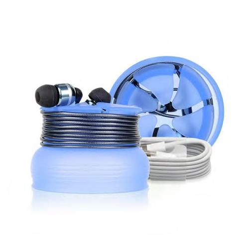 Silicon Case di The Nest for Earpuds or Cables Blue