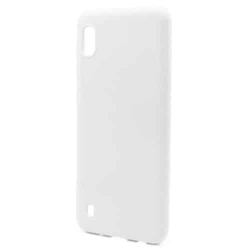 Liquid Silicon inos Samsung A105F Galaxy A10 L-Cover Powder White
