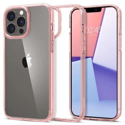 Θήκη TPU & PC Spigen Ultra Hybrid Apple iPhone 13 Pro Διάφανο-Ροζ