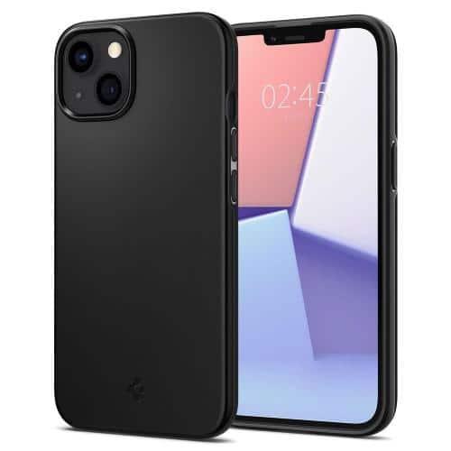 Θήκη TPU Spigen Thin Fit Apple iPhone 13 mini Μαύρο