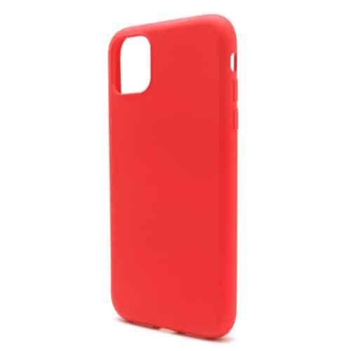 Θήκη Liquid Silicon inos Apple iPhone 11 L-Cover Κόκκινο