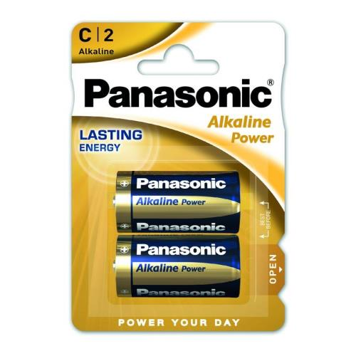Battery Alkaline Power Panasonic C LR14 (2 pcs.)