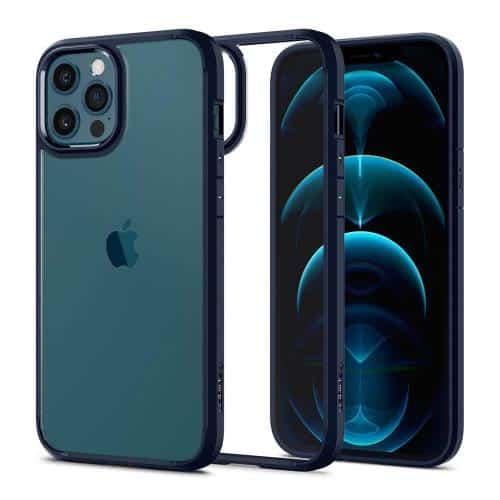 TPU & PC Back Cover Case Spigen Ultra Hybrid Apple iPhone 12/ 12 Pro Navy Blue