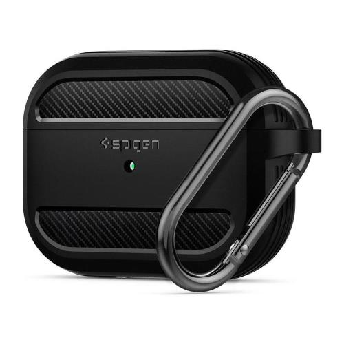 Silicon Case Spigen Rugged Armor Apple AirPods Pro with Hook Matte Black