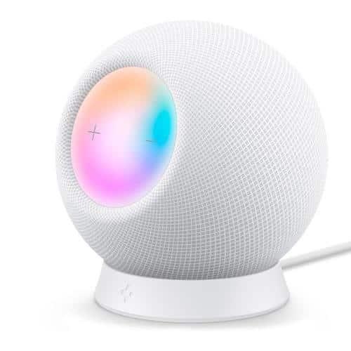 Desktop Stand Spigen Silicone Fit for Apple HomePod Mini White