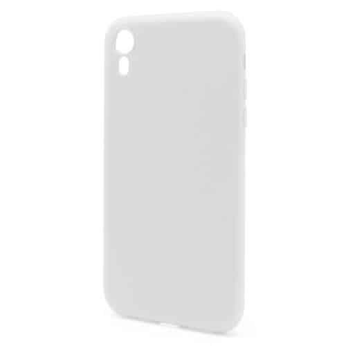 Liquid Silicon inos Apple iPhone XR L-Cover Powder White