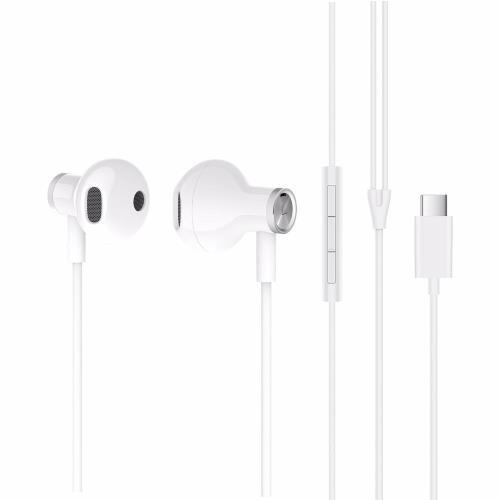Hands Free Stereo Xiaomi Mi In-Ear Headphones Dual Driver USB C BRE02JY Λευκό