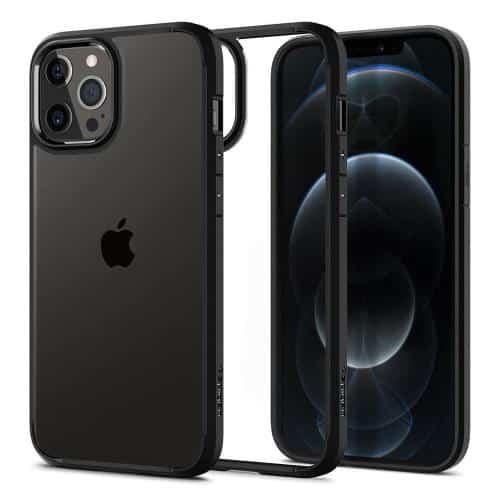 TPU & PC Back Cover Case Spigen Ultra Hybrid Apple iPhone 12 Pro Max Matte Black