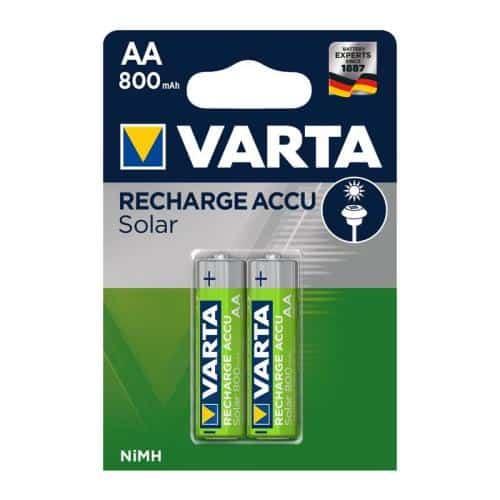 Μπαταρία Επαναφορτιζόμενη Varta AA 800mAh NiMH Solar (2 τεμ.)