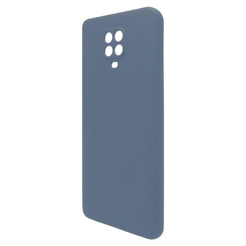 Θήκη Liquid Silicon inos Xiaomi Redmi Note 9S L-Cover Μπλε Ραφ