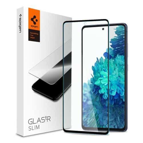 Tempered Glass Full Face Spigen Glas.TR Slim HD FC Samsung G780F Galaxy S20 FE 4G Black (1 pc)