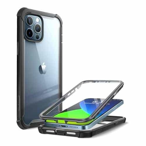 Full Body Rugged Case i-Blason Supcase Ares Apple iPhone 12/ 12 Pro Black