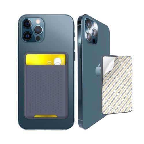 Θήκη Σιλικόνης Καρτών AhaStyle PT133-S για Smartphones Μπλε