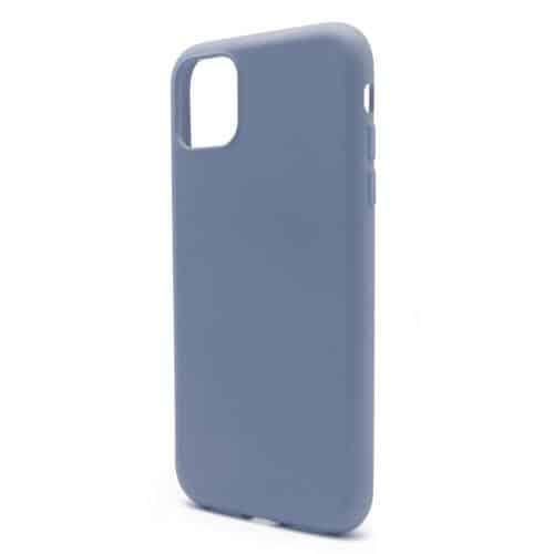 Θήκη Liquid Silicon inos Apple iPhone 11 Pro Max L-Cover Γκρι-Μπλε