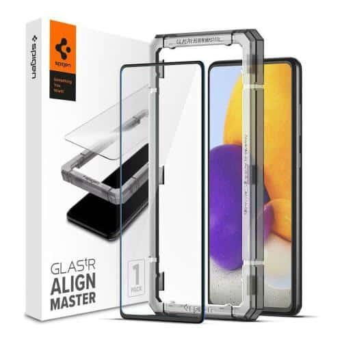 Tempered Glass Full Face Spigen Glas.tR Align Master Samsung A526B Galaxy A52 5G/ A528B Galaxy A52s 5G Black (1 pc)