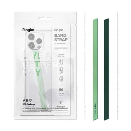 Αυτοκόλλητο Λουράκι Ringke Slim Microfiber για Θήκες Κινητών Πράσινο