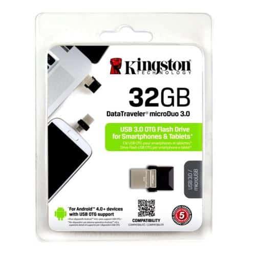 USB 3.0 Flash Disk Kingston DT Micro Duo 32GB Black