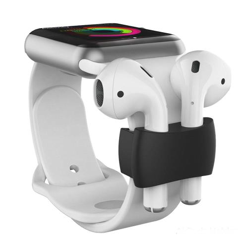 Holder AhaStyle PT75 Apple Airpods for Watch Straps Black (2 pcs)