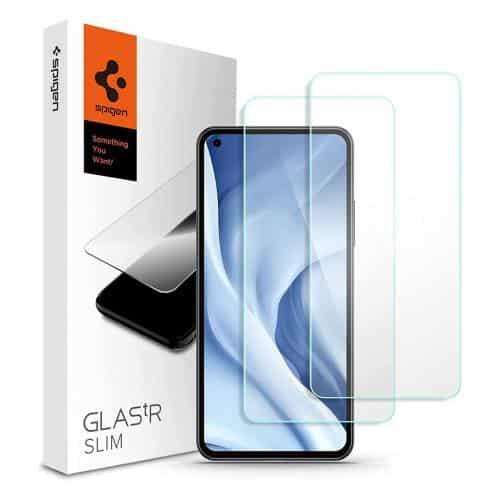 Tempered Glass Full Face Spigen Glas.tR Slim Xiaomi Mi 11 Lite 4G/ Mi 11 Lite 5G (2 pcs)