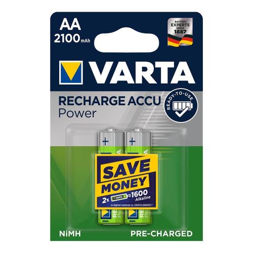 Rechargable Battery Varta AA 2100mAh NiMH 1.2V Ready2Use (2 pcs.)