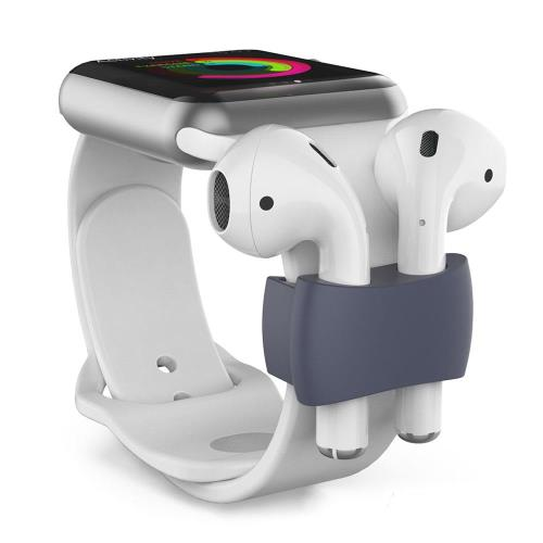 Holder AhaStyle PT75 Apple Airpods for Watch Straps Navy Blue (2 pcs)